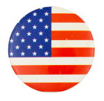 American Flag Circle Art Button Museum
