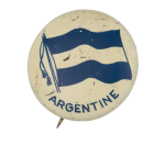 Argentine Flag Art Button Museum