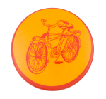 Bicycle In Red And Yellow Art Button Museum