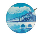 Blue Train Art Button Museum