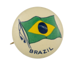 Brazil Flag Art Button Museum