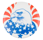 Eagle Red White and Blue Art Button Museum