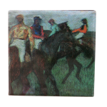 Edgar Degas Racehorses Art Button Museum