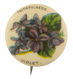 Faithfulness Violet Advertising Button Museum