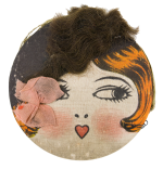 Flapper Face Art Button Museum