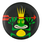 Frog Wearing Crown Art Button Museum