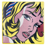 Roy Lichtenstein's Girl with Hair Ribbon Art Button Museum
