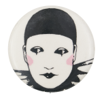 Harlequin Character Art Button Museum