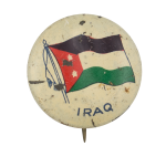 Irag Flag Art Button Museum
