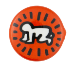 Keith Haring Radiant Baby Red Art Button Museum