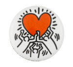 Keith Haring Dancing Heart Art Button Museum