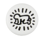 Keith Haring Radiant Baby Black and White Art Button Museum