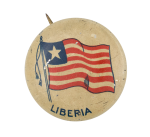 Liberia Flag Art Button Museum