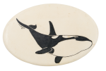 Orca Whale Art Button Museum