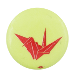 Origami Crane Art Button Museum