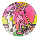 Peter Max Face Art Button Museum