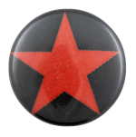 Red Star on Black Art Busy Beaver Button Museum