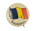 Roumania Flag  Art Button Museum