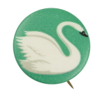Swan on Green Art Button Museum