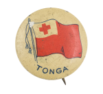 Tonga Flag Art Button Museum