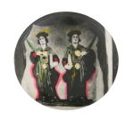 Two Women in Robes Art Button Museum