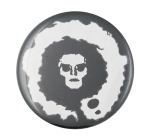 White Skull Face Art Button Museum