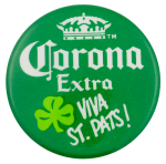 Corona Viva St Pats Beer Busy Beaver Button Museum