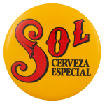 Sol Cerveza Especial Beer Busy Beaver Button Museum