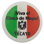 Tecate Cinco de Mayo Beer Busy Beaver Button Museum