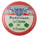 Budweiser La Clainne Beer Busy Beaver Button Museum