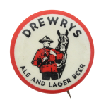 Drewrys Ale and Lager Beer Beer Button Museum