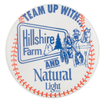 Hillshire Farm And Natural Light Beer Button Museum