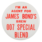 James Bond's Brew Beer Button Museum