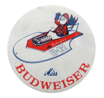 Miss Budweiser Beer Button Museum