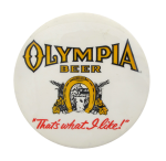 Olympia Beer button  Beer Button Museum