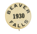 Beaver Falls 1930 Beavers Button Museum