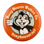 Busy Beaver Button Souvenir 2 Beavers Busy Beaver Button Museum