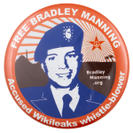 Free Bradley Manning Wikileaks Cause Busy Beaver Button Museum