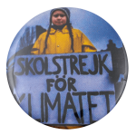 Greta Thunberg Skolstrejk for Klimatet Cause Busy Beaver Button Museum