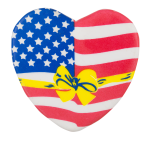 American Flag Heart 2 Cause Button Museum