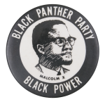 Black Panther Party Malcolm X Cause Button Museum
