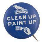 Clean Up Paint Up Cause Button Museum
