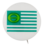 Ecology American Flag Cause Button Museum
