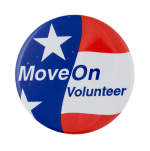 Move On Volunteer Club Button Museum