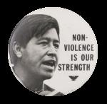Non-Violence Cesar Chavez Cause Button Museum