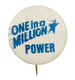 One in a Million Power Cause Button Museum