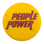 People Power Yellow Cause Busy Beaver Button Museum