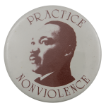 Practice Nonviolence Cause Busy Beaver Button Museum