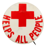 Red Cross Helps All People Cause Busy Beaver Button Museum