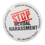 Stop Sexual Harassment Cause Button Museum